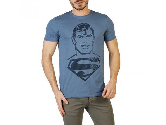FÉRFI DC COMICS RÖVID UJJÚ FELSŐ RGMTS364 (kék_superman) - L