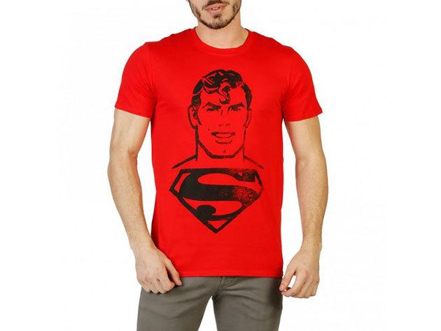 FÉRFI DC COMICS RÖVID UJJÚ FELSŐ RGMTS364 (piros_superman) - L