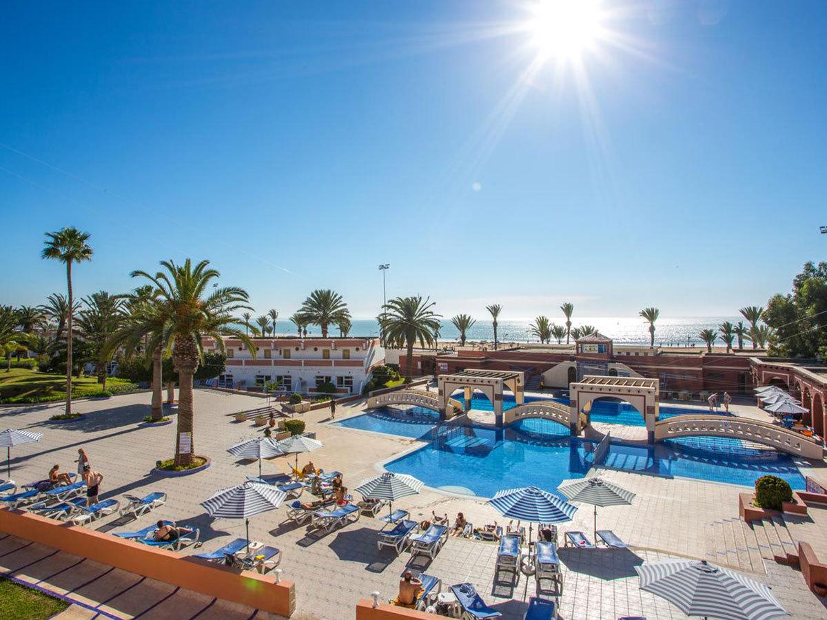 Marokkó, utazás repülővel, tengerparti nyaralás - szállás 7 éjszakára Agadirban, a Hotel Almoggar Garden Beach***-ben, félpanzióval 2 főnek