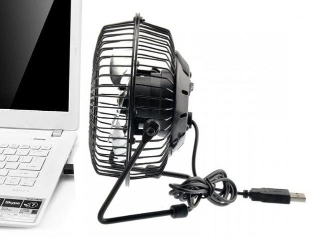 USB-s asztali ventilátor - Tedd az asztalodra, csatlakoztasd a laptopodhoz és élvezd a kellemes, enyhe szellőt!