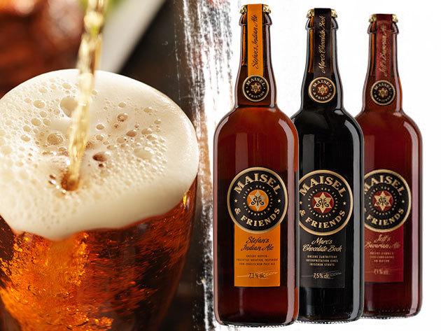Maisel&Friends búza és barna sörök 3 választható ízben - (0,75l) különleges ízek a nem hétköznapi eseményekhez