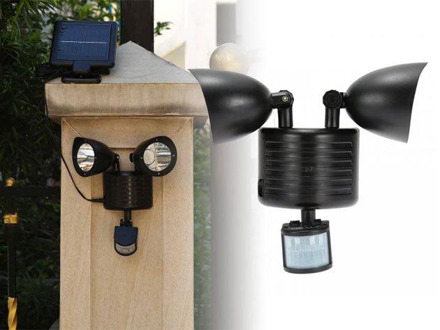 Dupla mozgásérzékelős szolár világítás - energiatakarékos megoldás, állítható szög, 2x11 db LED