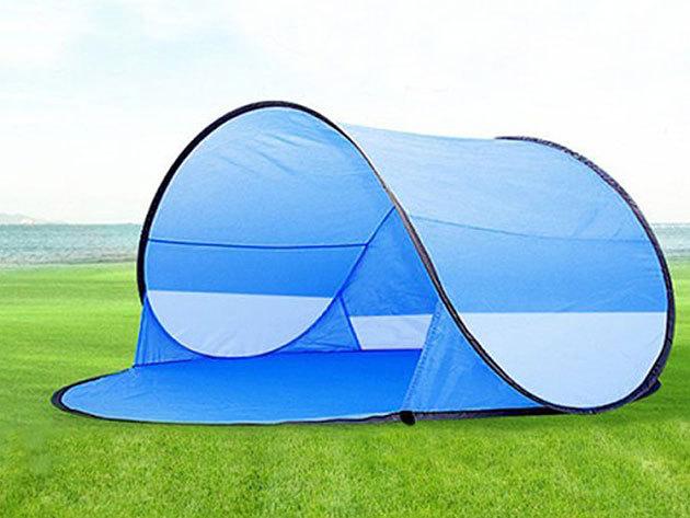 Strandsátor nyaraláshoz vagy kerti pihenéshez - könnyen felállítható, 2 személyes sátor strapabíró anyagból