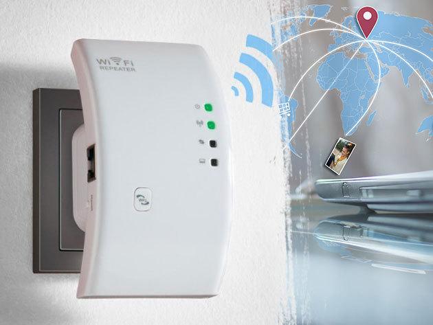 WiFi jelerősítő - lehetővé teszi a vezeték nélküli szabadságot a lakás bármely pontján, ideális kis létszámú irodák, illetve otthoni használatra