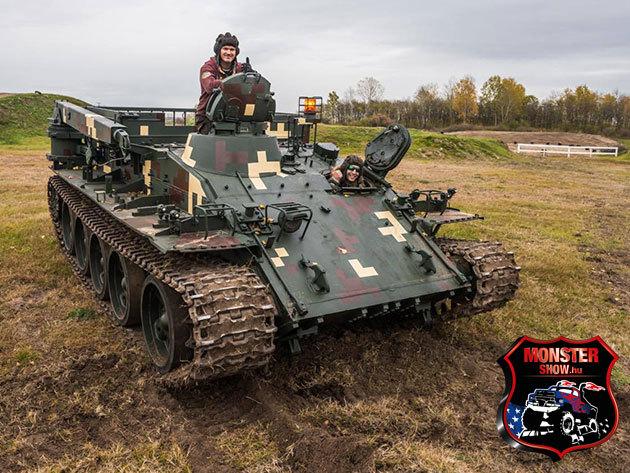 """Élményvezetés VT-55 Tank """"BIKA""""-val Gyálon! Ajándékozz, vagy éld át az élményt TE is!"""