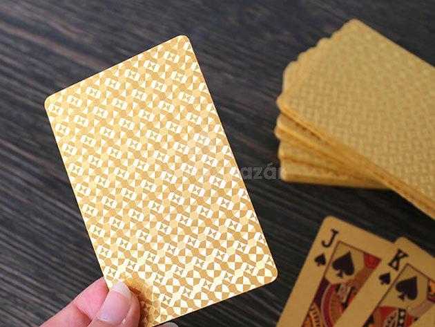 Luxus póker kártya pakli- arany