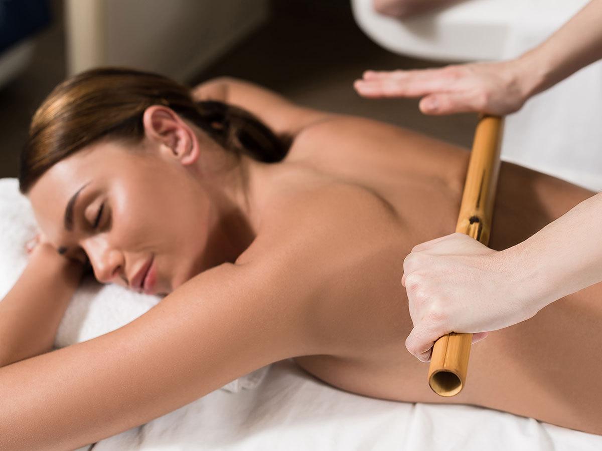 Kombi masszás bambuszrúddal és lávakővel hátizomra, a maximális ellazulásért - 1 vagy 3 alkalmas / V. kerület