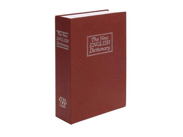 Könyv alakú biztonsági doboz bordó színben - HOP1000291