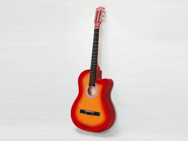 Akusztikus gitár szett kezdőknek - HOP1000848-1 barna