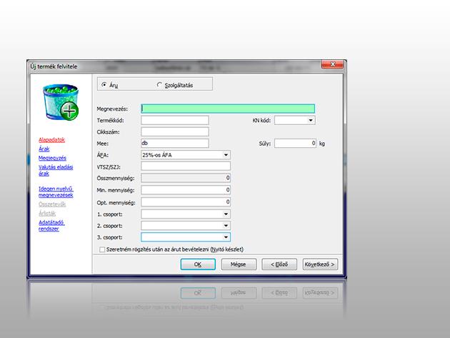Készlet Kompakt (egyszerű és azonnal használható számlázóprogram és raktárprogram egyben)