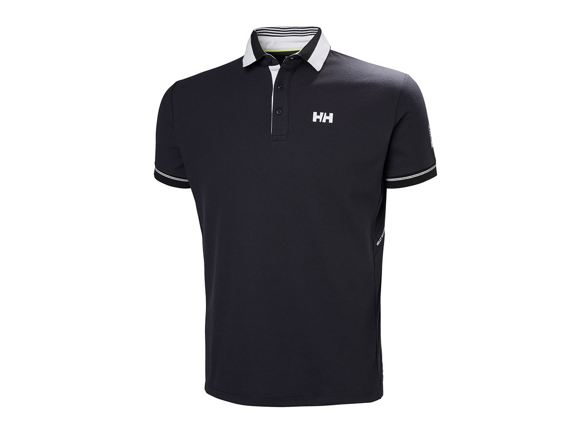 Helly Hansen HP SHORE POLO - EBONY - S (53013_981-S )