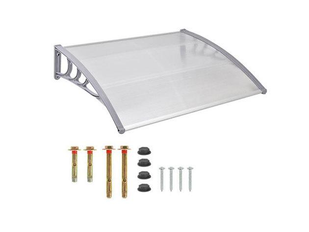 Műanyag előtető, 120x90 cm, fehér - HOP1000696