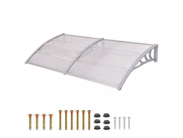 Műanyag előtető 240 x 90 cm, fehér - HOP1000696