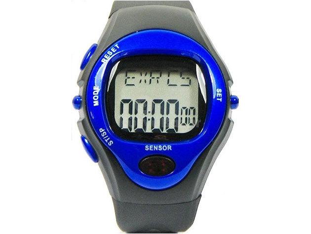 Pulzusmérő óra, kalóriaszámláló (Kék)