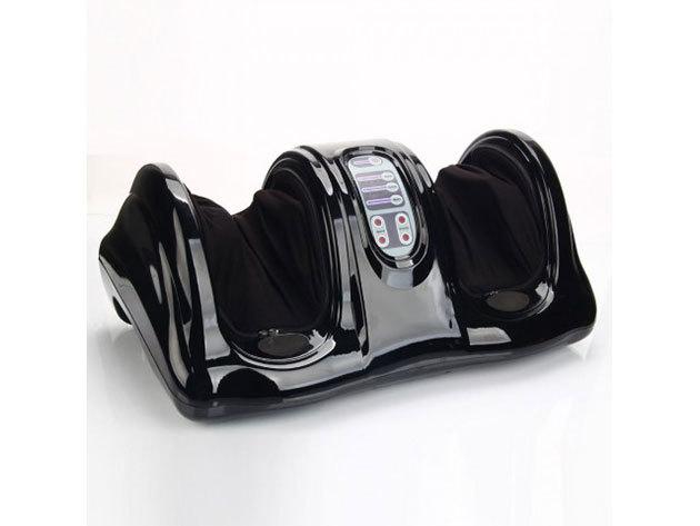 Elektromos lábmasszírozó távirányítóval fekete színben - HOP1000869