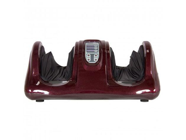Elektromos lábmasszírozó távirányítóval bordó színben - HOP1000869