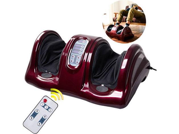 Elektromos lábmasszírozó, távirányítóval állítható programokkal - shiatsu masszázs az otthonodban vagy az irodában