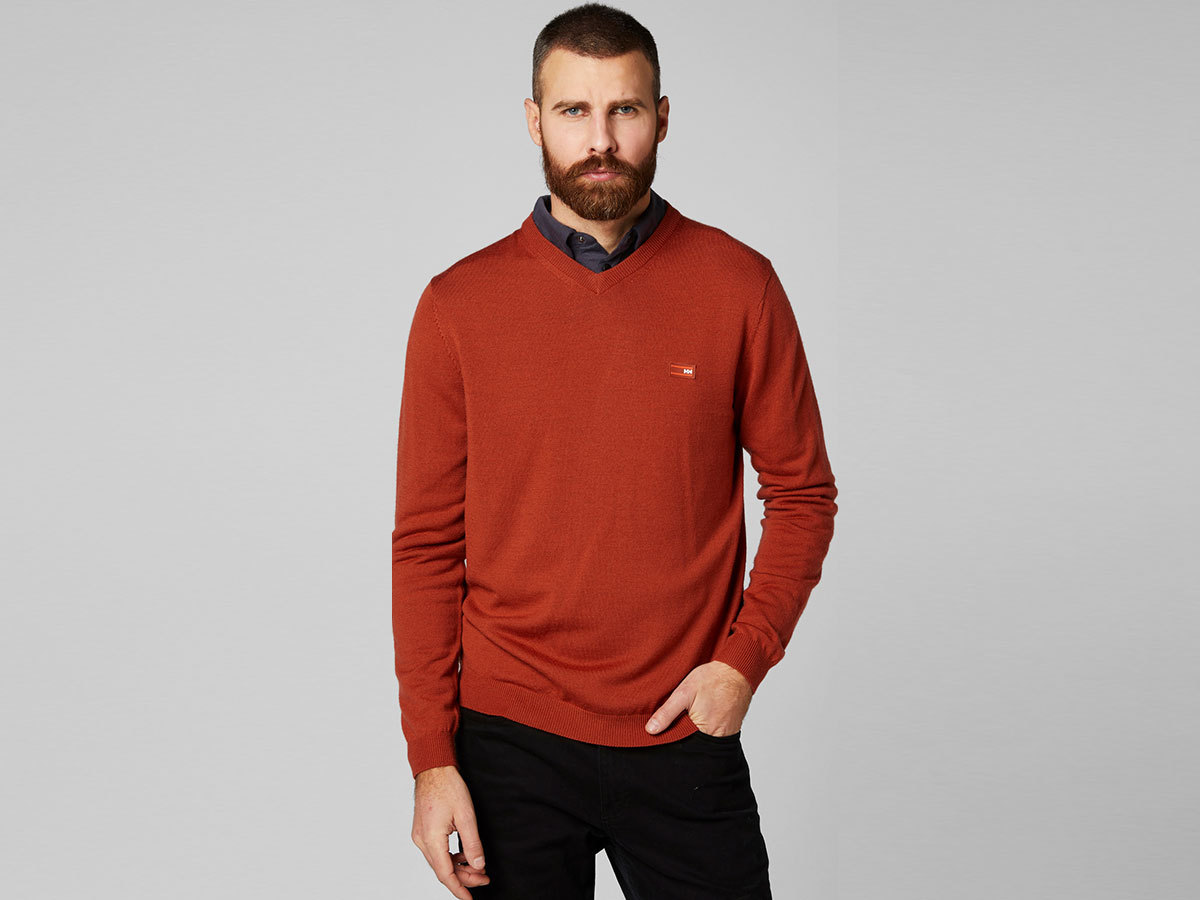 Helly Hansen SKAGEN MERINO SWEATER - RED BRICK - M (33997_199-M )