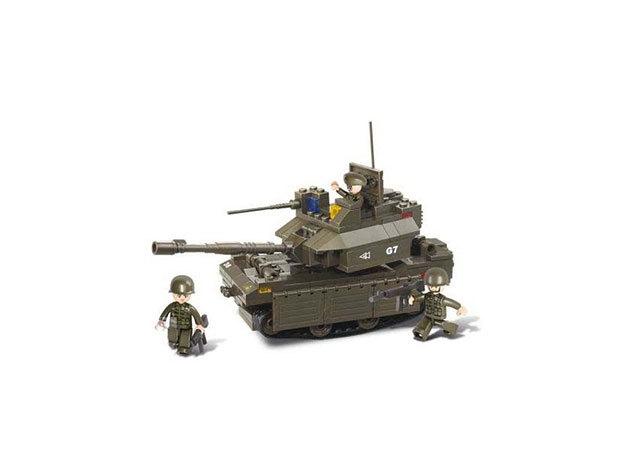 Sluban modern harckocsi, tank építőkészlet