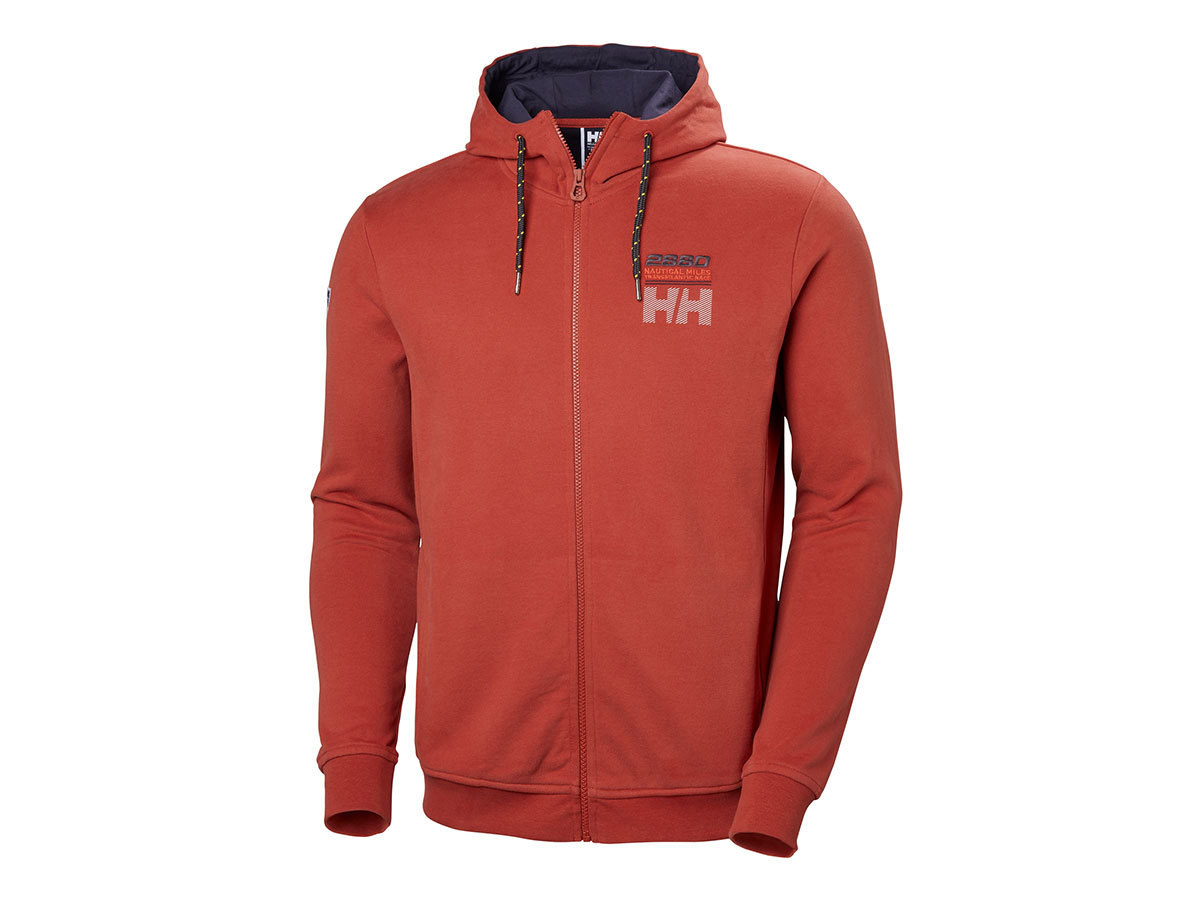 Helly Hansen CLUB FZ HOODIE - RED BRICK - S (33936_199-S )