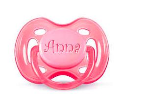Philips Avent cumi gravírozással (Rózsaszín)
