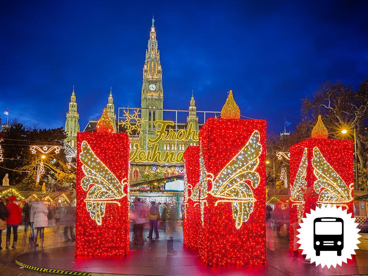 Advent Bécsben buszos utazással - vásárlás a Primarkban, majd karácsonyi vásár a belvárosban / fő