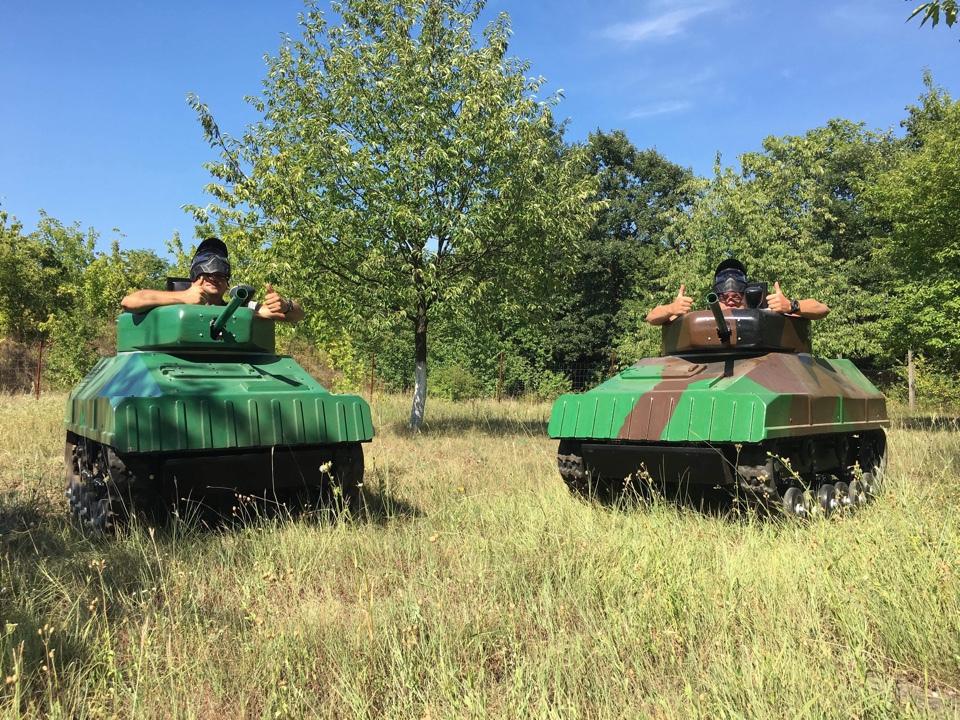Paintball Mini Tank - Párbaj csomag (2 fő esetén) / fő