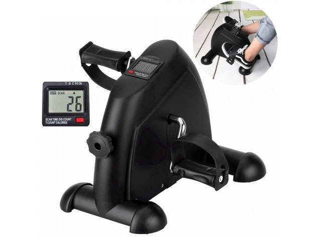 Mini szobakerékpár otthoni vagy irodai edzésekhez - a lábakat és a karokat is erősítheted