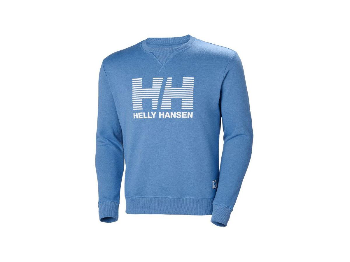 Helly Hansen HH CREW SWEAT - MELANGE BLUE WATER - XXS (53155_503-2XS )