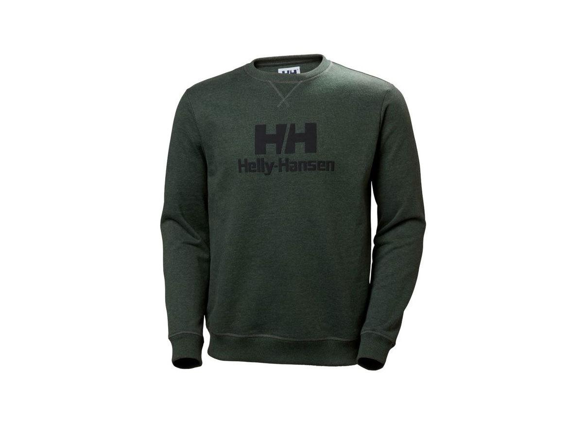 Helly Hansen HH CREW SWEAT - MOUNTAIN GREEN MELANGE - XXS (53155_454-2XS )