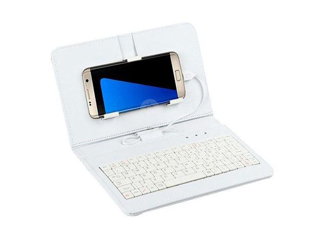 Univerzális telefontok billentyűzettel - Fehér / FHO-052