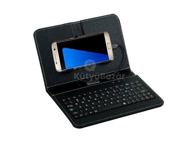Univerzális telefontok billentyűzettel - Fekete / FHO-052