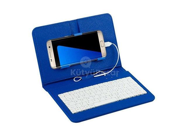 Univerzális telefontok billentyűzettel - Kék / FHO-052