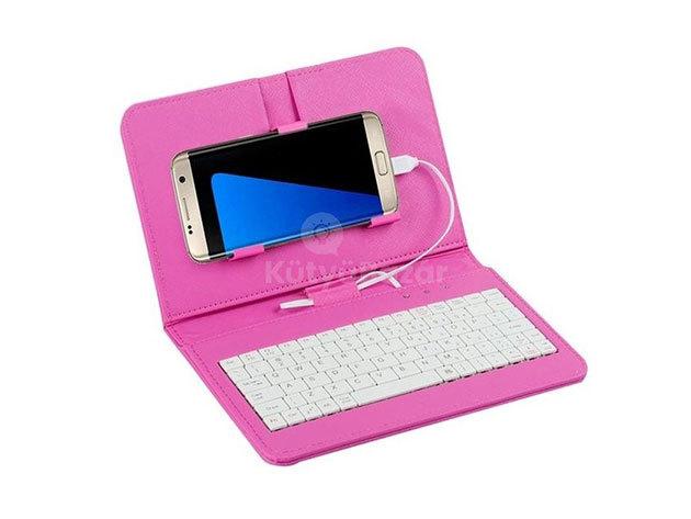 Univerzális telefontok billentyűzettel - Rózsaszín / FHO-052
