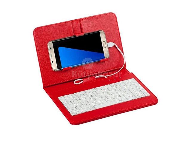Univerzális telefontok billentyűzettel - Vörös/ FHO-052