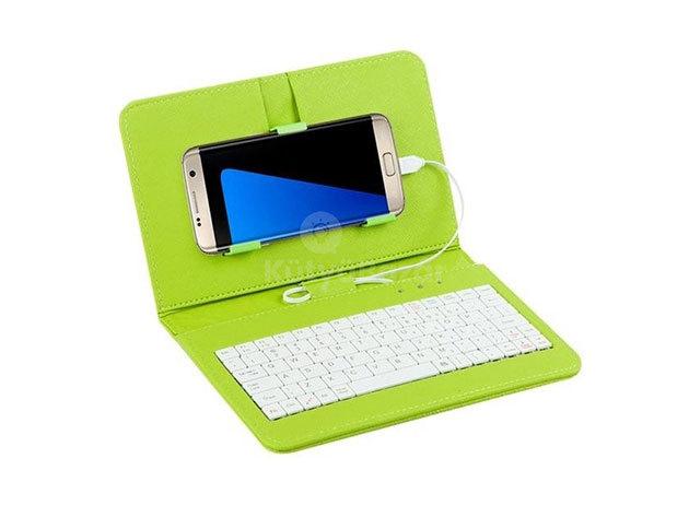 Univerzális telefontok billentyűzettel - Zöld / FHO-052