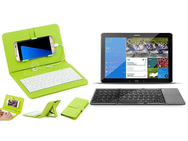 Bluetooth billentyűzet touchpaddal iOS, Android vagy Windows-os készülékekhez VAGY univerzális telefontok billentyűzettel