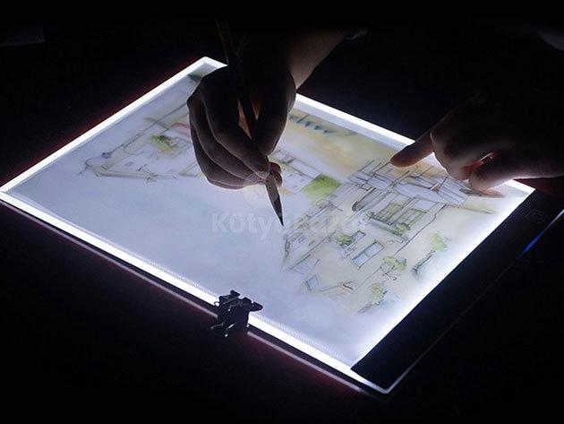 LED rajztábla grafikai munkák átmásolásához - tökéletes segédeszköz grafikusok, tetoválók, fotósok munkájához