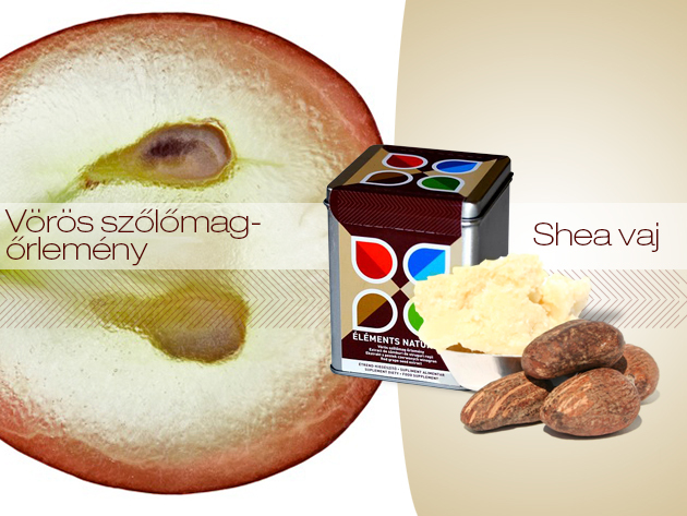 Éléments Naturels -vörös szőlőmag őrlemény a sejtek védelméért és Naturafrica Shea vaj a szép bőrért!