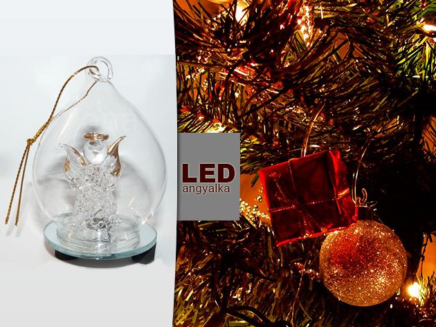 Legyen meseszép a karácsonyfátok: Váltakozó színű LED-es angyalka dísz akár 72 % kedvezménnyel!