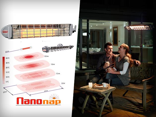 Teázzatok télen is a teraszon! Elektromos Infra hősugárzó külterek fűtésére, 25% kedvezménnyel!