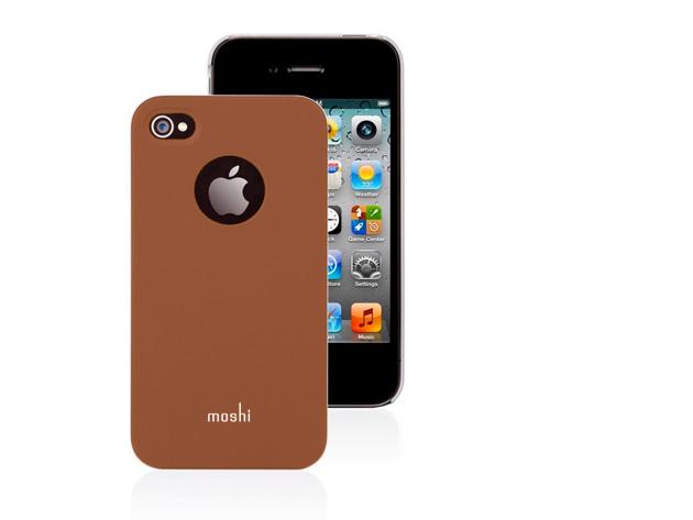 Moshi iPhone 4 hátlap fóliával (Barna színben)