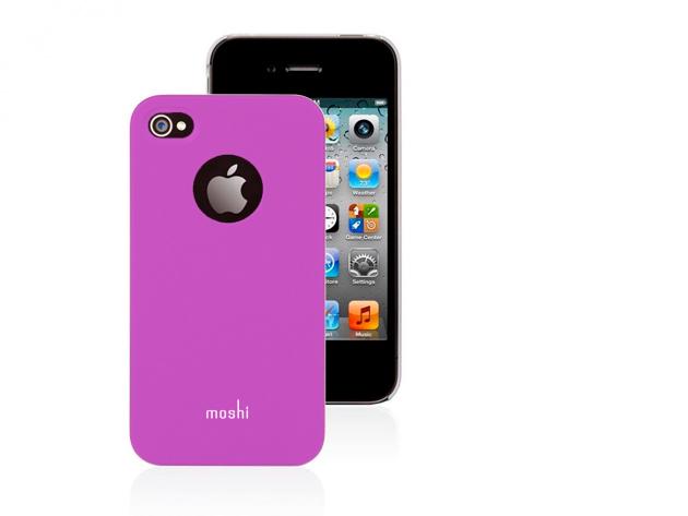 Moshi iPhone 4 hátlap fóliával (Rózsaszín színben)
