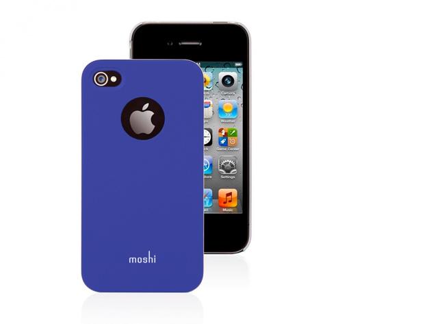 Moshi iPhone 4 hátlap fóliával (Kék színben)