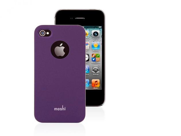 Moshi iPhone 4 hátlap fóliával (Lila színben)
