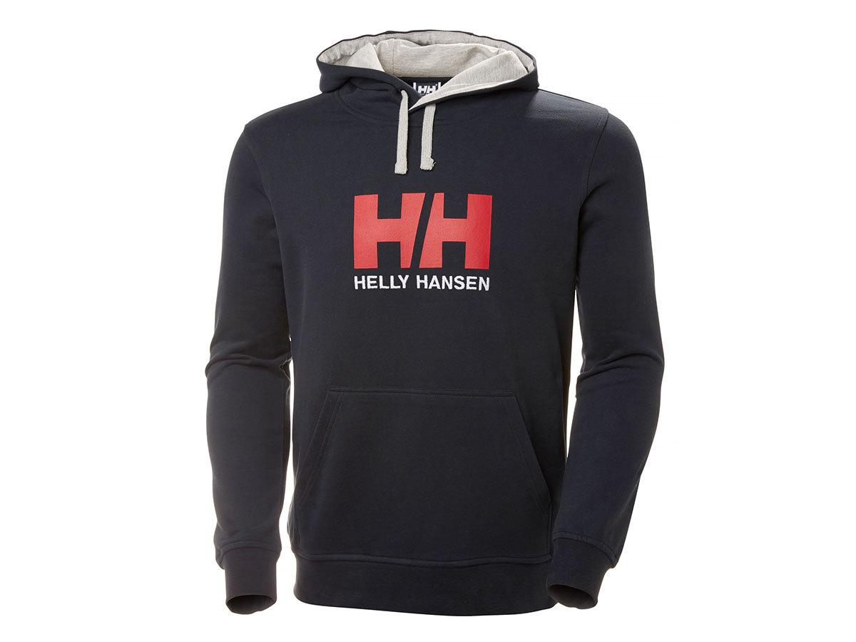 Helly Hansen HH LOGO HOODIE - NAVY - XL (33977_597-XL ) - AZONNAL ÁTVEHETŐ