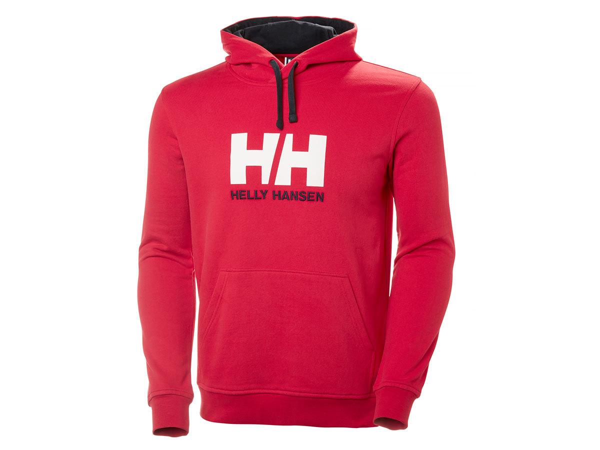 Helly Hansen HH LOGO HOODIE - RED - XL (33977_162-XL ) - AZONNAL ÁTVEHETŐ