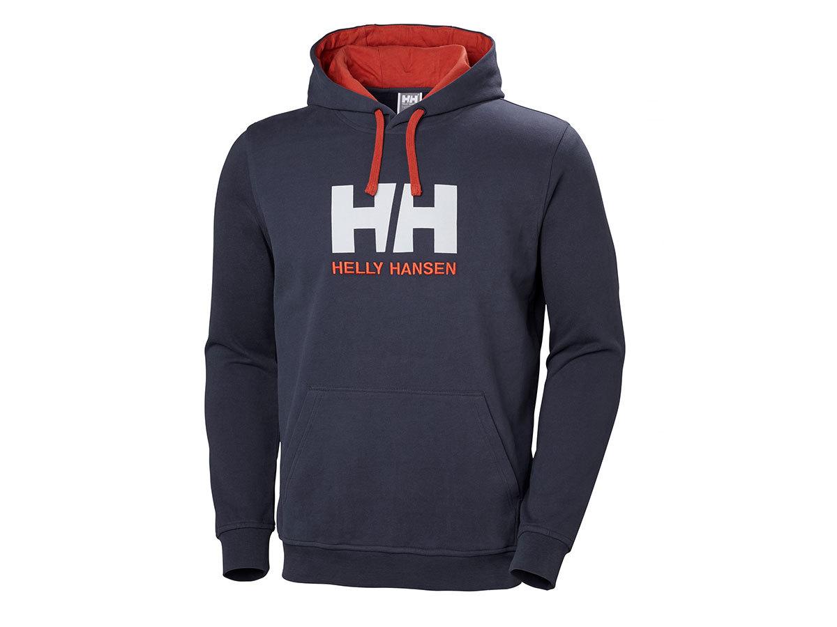 Helly Hansen HH LOGO HOODIE - GRAPHITE BLUE - L (33977_994-L ) - AZONNAL ÁTVEHETŐ