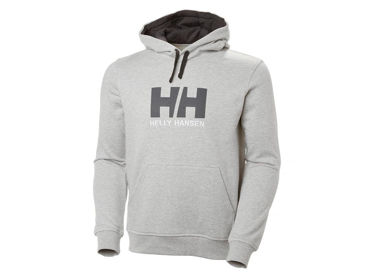 Helly Hansen HH LOGO HOODIE - GREY MELANGE - XL (33977_949-XL ) - AZONNAL ÁTVEHETŐ