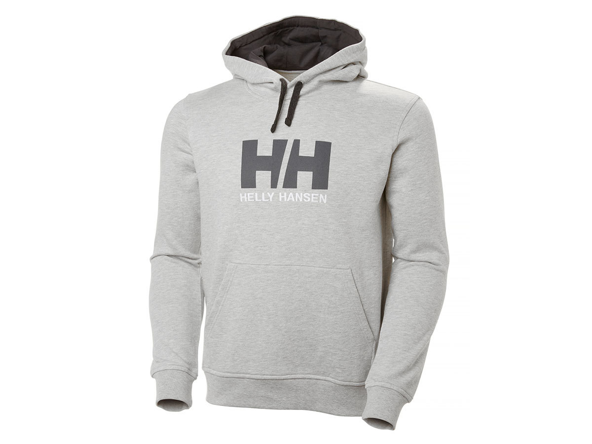 Helly Hansen HH LOGO HOODIE - GREY MELANGE - XL (33977_949-XL )